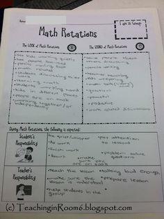 Teaching in Room 6: Math Workshop: Organizing It All