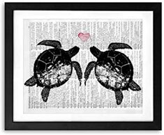 akeke Art for Bathroom Love Sea Turtle Wall Decor Vintage Paintings Old Dictionary Art Print Unframed Beach Bedroom Decor, Vintage Paintings, Dictionary Art, Beach House, Turtle, Easy Diy, Moose Art, Wall Decor, Decor Ideas