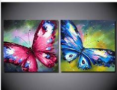 Cheap butterfly oil painting, Buy Quality oil painting directly from China paintings on canvas Suppliers: welcome to my store This is 100% hand paint oil painting, Please understand that this is artist handmade oil pai