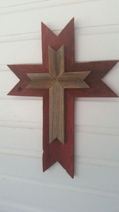 Check out this item in my Etsy shop https://www.etsy.com/listing/206224195/rustic-wood-cross-weathered-wood-wall