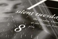 Silent Tuesdays by Stephanie Ross, via Behance