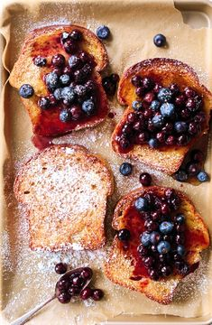 Cinnamon & blueberry French toast -- Low FODMAP Recipe and Gluten Free Recipe #lowfodmaprecipe #glutenfreerecipe #lowfodmap #glutenfree