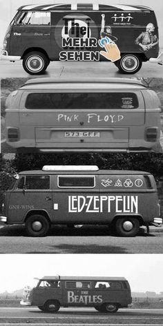 The Magic Volkswagen Bus - The Who, Pink Floyd, Led Zeppelin The Beatles. seen them all except the Beatles! Music Love, Music Is Life, Good Music, My Music, Pop Rock, Blues, Pink Floyd, Mundo Musical, El Rock And Roll