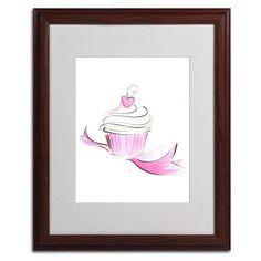 "Trademark Art ""Cupcake 8"" by Jennifer Lilya Framed Painting Print Size:"