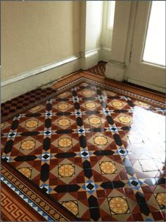 victorian-tiled -floor-in-Glasgow-after
