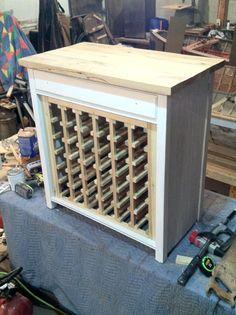 Wine Rack DIY - Antique dresser turned into a wine bottle cabinet. #Wine #diy