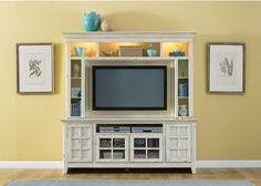ITEM#: 16304057Complete your entertainment room with a 2-piece entertainment center. The entertainment center is made from selected hardwood and birch veneers, so it is durable. Finish: Distressed cream finish. | eBay!