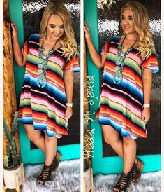 Sedona Serape Dress – Heels N Spurs Rodeo Outfits, Western Outfits, Girl Outfits, Cute Outfits, Fashion Outfits, Mexican Fashion, Mexican Outfit, Mexican Dresses, Fiesta Outfit