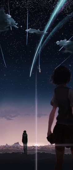 Kimi no na wa   Anime Sky and Galaxy Wallpaper   #animewallpaper #wallpaper #sky #galaxy #kawaii #art #ezmkurd #skyandgalaxy #animewallpaper #خلفيات #خلفيات_انمي #انمي #خلفيات_انمي_كلاكسي