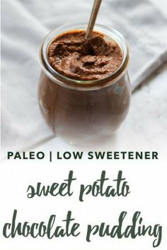 Low in sweetener but rich in flavor, this paleo chocolate sweet potato pudding requires only five ingredients and is egg free, nut free, refined sugar free, and dairy free.  #paleodessert #paleosnack #chocolate #sweetpotato #fiveingredients #healthy #glutenfree #paleodiet #paleorecipe #dairyfree #eggfree #sugarfree #nutfree Sweet Potato Pudding, Paleo Sweet Potato, Sweet Potato Breakfast, Sweet Potato Recipes, Easy Gluten Free Desserts, Vegan Desserts, Healthier Desserts, Dessert For Dinner, Paleo Dessert
