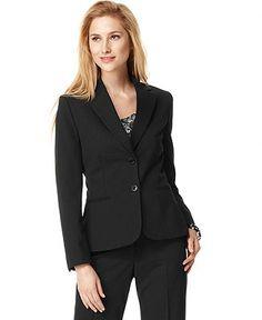 Tahari ASL Two-Button Blazer - Jackets & Blazers - Women - Macy's