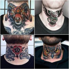 Best Neck Tattoo Ideas for Men - animal neck tattoos for men – neck tattoos for men – throat tattoos for men. Explore more Tatto - Back Of Neck Tattoo Men, Side Neck Tattoo, Nape Tattoo, Throat Tattoo, Tattoo Hals, Forearm Tattoo Men, S Tattoo, Tribal Neck Tattoos, Best Neck Tattoos