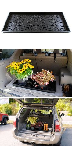 Boot trays are not just for the mud room. They work great to keep the back of your car clean when you pick up your Garden Center goodies... and muddy boots, too.