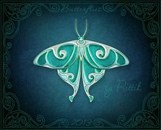 Moon Moth by Rittik.deviantart.com on @deviantART