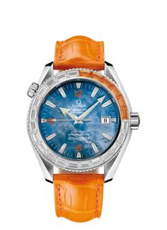 2916.50.48 : Omega Seamaster Planet Ocean 600M Co-Axial 42 Mécanique 6 Sapphires/  Ladies