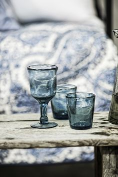 SPRING glassware in stylish blue | Interior design by Eightmood | IL MARE SS16
