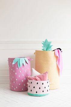 How To Make Fruit-Inspired Storage Baskets | studiodiy.com