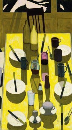 John Brack (Australian, 1920-99): The Breakfast Table (1958). Oil on canvas. Sold at auction by Bonham's, 2013.