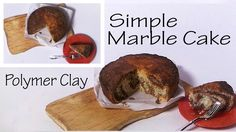 Simple Miniature Marble Cake - Polymer Clay Tutorial