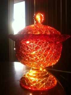 Vintage Orange Glassware by myunclesattic on Etsy