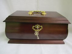 Large Wood Jewelry Box With Lock And Handle Wood Jewelry Chest