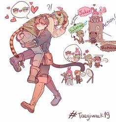 """[ Taegiweek Day 1 : Romeow & Julietae] He loves Julietae not Juliet 😥😥 Namjin, Jikook, Vkook Fanart, Naruto Sasuke Sakura, Stray Dogs Anime, Bts Drawings, Bts Chibi, Bts Fans, Kpop"