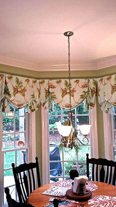 Beautiful London shade with optional trims by recreateyour on Etsy Bay Window Treatments, Window Coverings, Kitchen Window Valances, Kitchen Curtains, Window Blinds, Balloon Curtains, Door Curtains, Relaxed Roman Shade, Pergola
