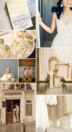 Sweet Henriette gold foil stamped wedding invitations + inspiration from Bella Figura