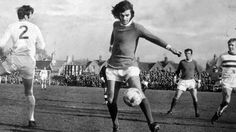 Manchester United's George Best in FA Cup action against Northampton Town in 1970.