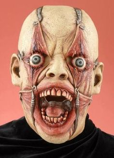 2012's Most Scary Halloween Mask!  Yup it looks uncomfortable and will make everyone who must look at it all Halloween night quickly look away!    Be sure to visit our Annual list of Best Halloween Costumes including Goriest, Sexiest, Funniest, Best Couples and more! GetGhostGear.com
