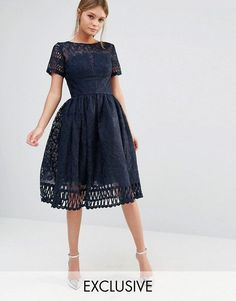 Navy blue lace dress with sequin detailing cars