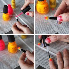 DIY | Sponge Mani using eyeshadow sponge brush.