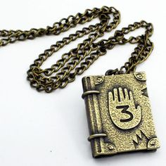 1PCS-Cool-Gravity-Falls-Journal-Number-3-Necklace-Pendant-Cosplay-Costume-Otaku Gravity Falls : Journal, Gravity Falls Art, Cosplay Gravity Falls, Gavity Falls, Mens Sterling Silver Necklace, Reverse Falls, Accesorios Casual, Star Wars, Cute Jewelry