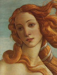 Sandro Botticelli, Birth of Venus (detail) complete work here   I just love it
