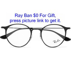 Ray-Ban Round-frame metal optical glasses found on Polyvore featuring  accessories, eyewear 2073f272f095