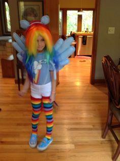 Rainbow Dash costume, equestria girl