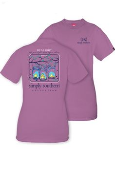 Simply Southern Be A Light Tee - Eggplant from Chocolate Shoe Boutique