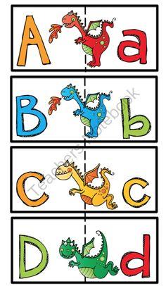 Preschool Printables: Dragon Alphabet