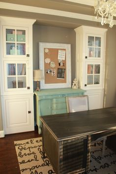 Nice Office Built In Cabinets