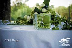Candele verdi con fiori matrimonio