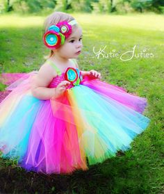 Kutie Tuties - Rainbow Tutu Dress
