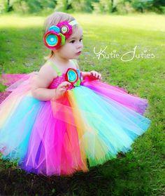 Kutie Tuties - Rainbow Tutu Dress