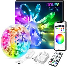 Amazon.com: LED Strip Lights, Govee Color Changing 16.4FT Bluetooth Lights Strip, App Control, Remote, Control Box LED Music Lights, 7 Scenes Mode RGB LED Lights for Bedroom, Kitchen, Party, 3 Way Control: Home Improvement Rgb Led Strip Lights, Led Light Strips, Strip Lighting, Music Bedroom, Light App, App Remote, Color Changing Lights, Light Music, App Control