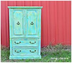 A Trip to the Country & Funky Cabinet Aqua Dresser, Bedroom Furniture, Diy Furniture, Turquoise Furniture, Types Of Furniture, Pretty Cool, Color Patterns, Kitchen Decor, Cabinet