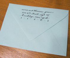 CUSTOM CALLIGRAPHY rubber address stamp