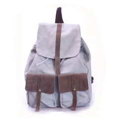 http://cheune.com/health Wisedeal Fashion 1pc Causual Women Lady girl Men Outdoor Sports Hiking Travel School students Canvas back pack bagpack