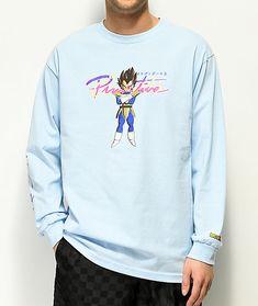 cb2adc85 Primitive x Dragon Ball Z Nuevo Vegeta Blue Long Sleeve T-Shirt | Zumiez  Graphic
