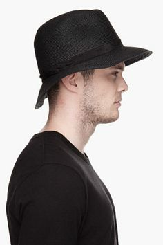 UNDERCOVER Black woven Middle Finger bucket hat