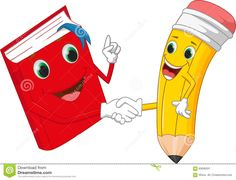 Cartoon pencil and books shake hands Illustration , School Board Decoration, School Decorations, School Cartoon, Cartoon Kids, Kids Room Art, Art For Kids, School Frame, Classroom Board, Kids Background