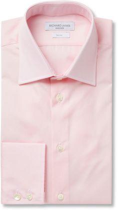Richard James Pink Cotton-Poplin Shirt sur shopstyle.fr